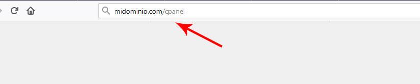 Escribir el dominio CPanel