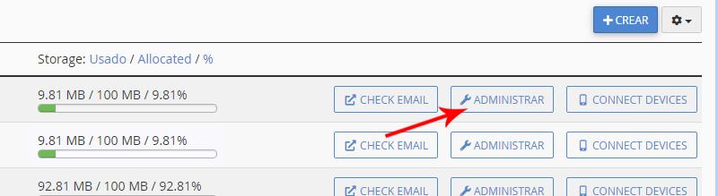 Administrar correo